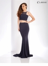 Charcoal Two Piece Prom Dress 3559