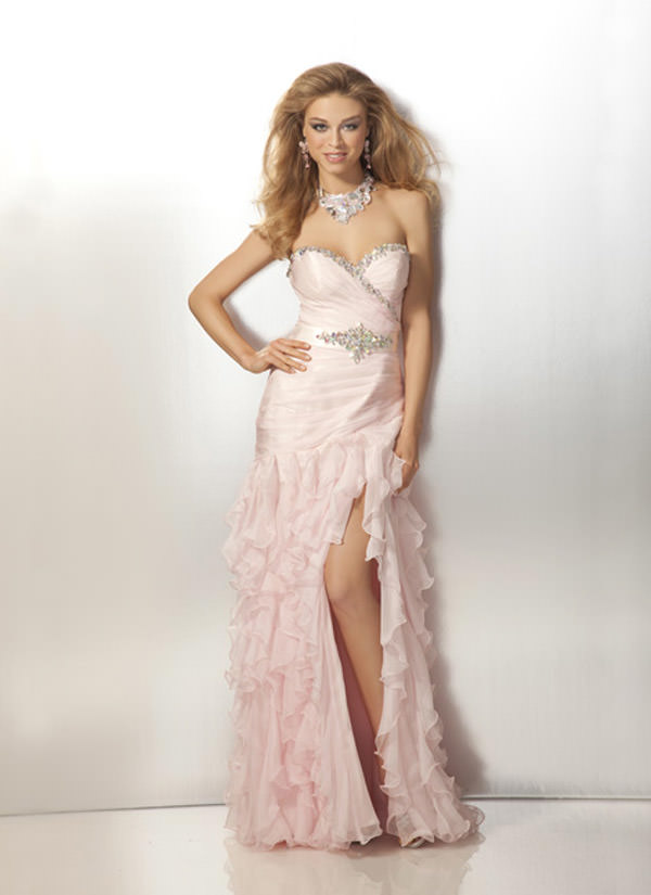 Cherry Blossom A line 2012 FOrmal Gown CLarisse 17130