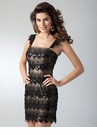 Black Lace Cocktail Dress 1601