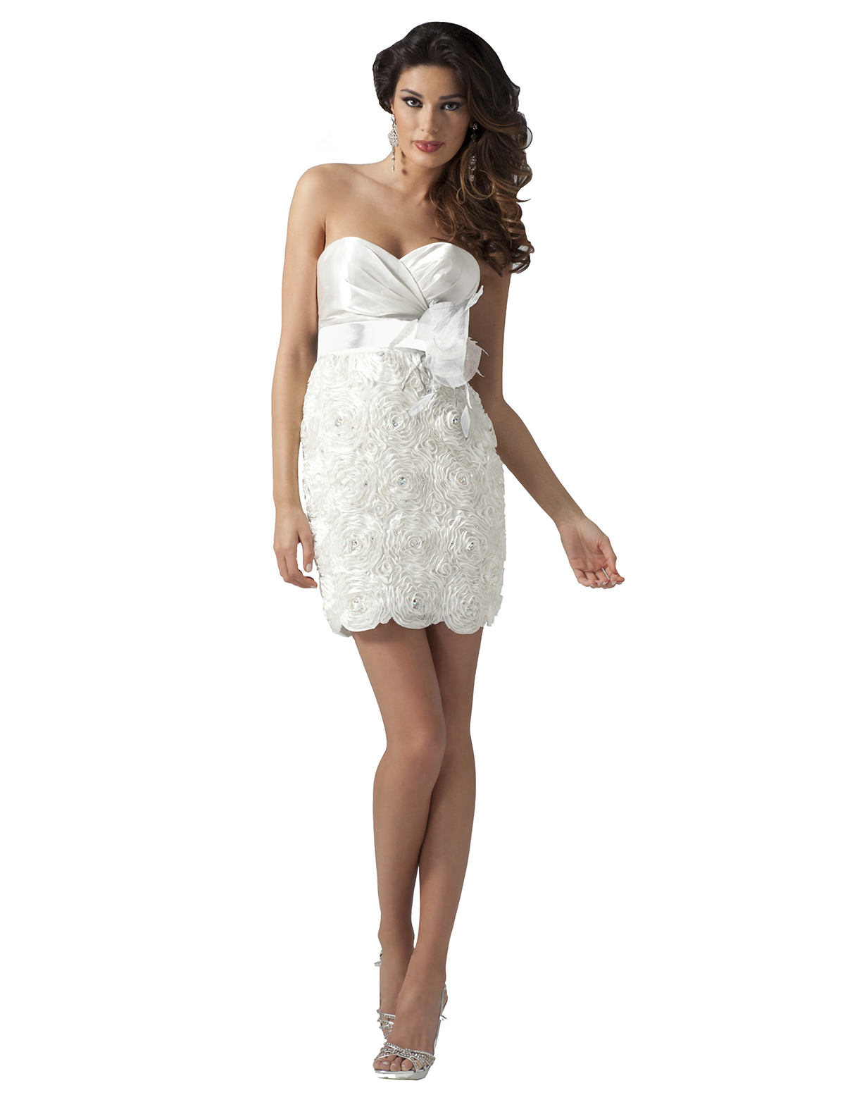 81f19a6868e 2011 Cocktail dresses - Ivory and black strapless short formal dress 1615