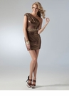 Bronze One Shoulder Cocktail Dress 1618