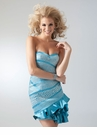 Turquoise and Silver Cocktail Dress 1622