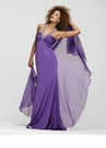 Purple Halter Prom Dress 2173