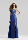 Long Blue Prom Dress 2305