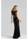 Clarisse 2310 Liquid Black Gown