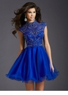 Beaded High Neck Homecoming Dress 2643