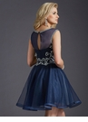 Navy and Silver Homecoming Dress 2668
