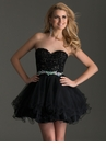 Strapless Black Homecoming Dress 2669