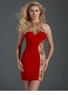 Red and Gold Party Dress 2676