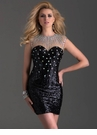 Black Sequin Homecoming Dress 2698