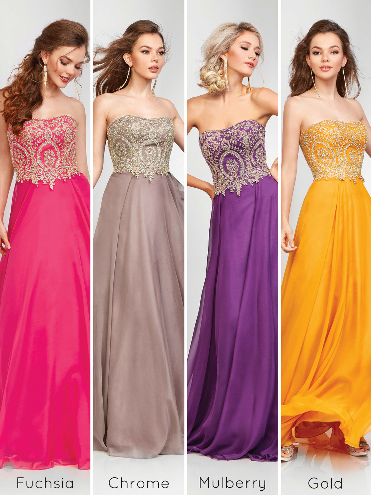 0ff5428ca0a A-line Strapless Prom Dress 3000