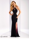Clarisse Black and Fuchsia Prom Dress 3178