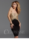 Clarisse Black and Gold Cocktail Dress 2904