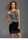 Clarisse Black and Gold Party Dress 2931