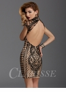 Clarisse Black and Nude Cocktail Dress 2915
