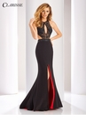 Clarisse Black and Red Prom Dress 3098