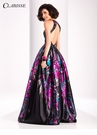 Clarisse Black Floral Ball Gown 3179