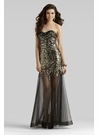 Clarisse Black & Gold Prom Gown 2379