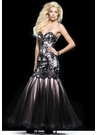 Pink and Black Lace Mermaid Dress 2415