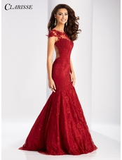 Cap Sleeve Lace Mermaid Prom Dress 3065 | 2 Colors!