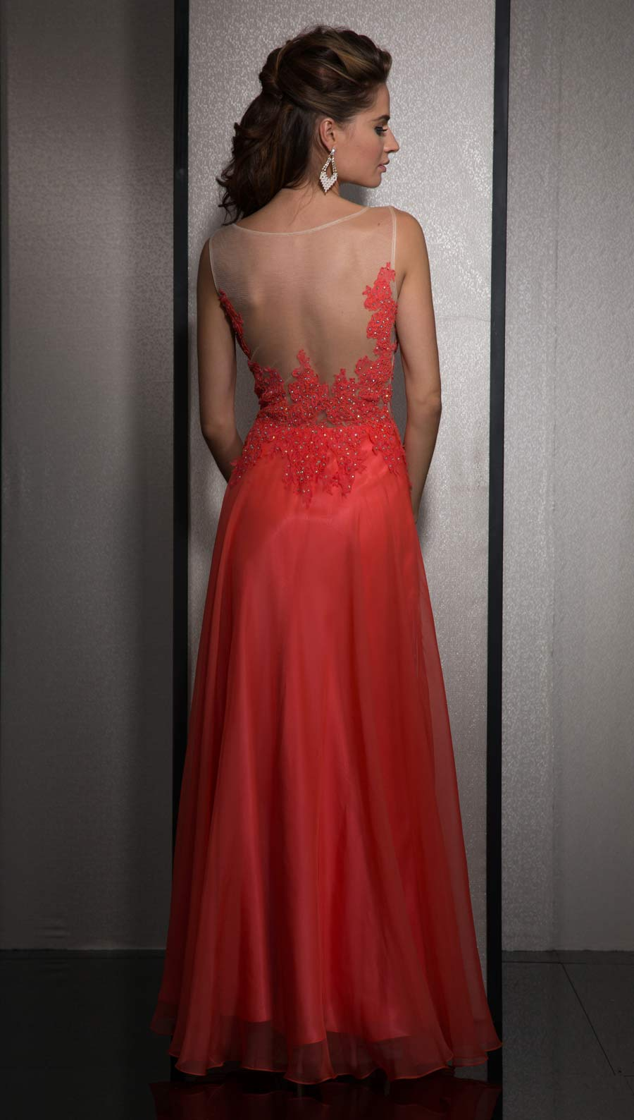 Promgirl coral long dress