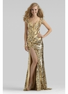 Clarisse Couture 24ct Gold Gown 4303
