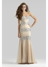 Cream Colored Couture Gown 4301