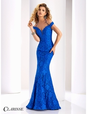 Clarisse Couture Lace Evening Gown 4801