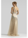 Sparkling Champagne Prom Gown 4309