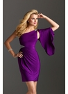 Cocktail Dress with Detachable Sleeve 2236