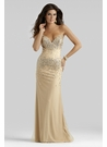 Elegant Champagne Gown 2400