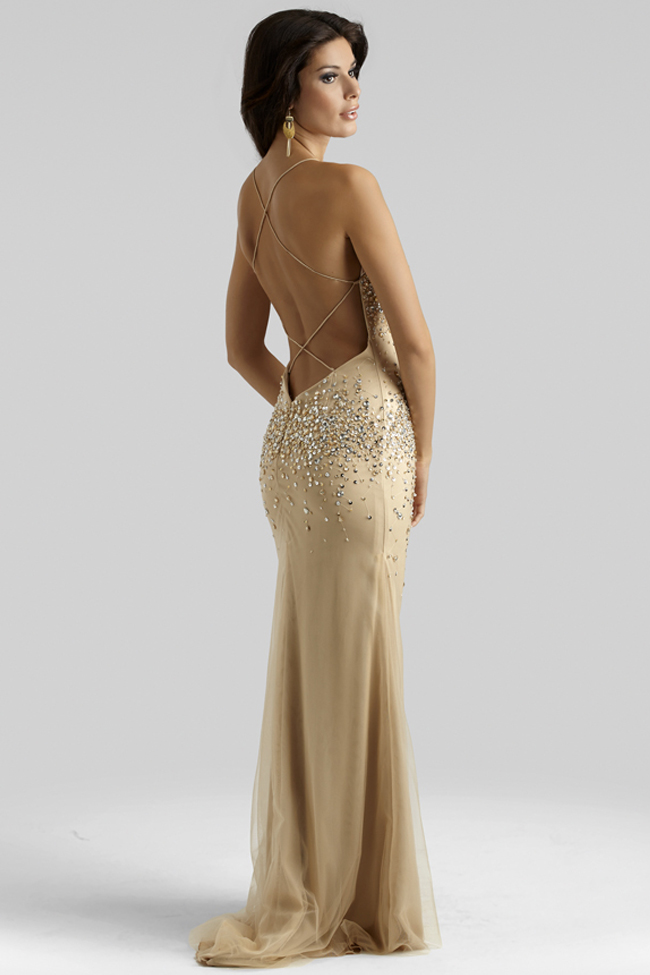 Clarisse 2014 Champagne Gold Beaded Elegant Prom Dress ...