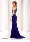 Clarisse Elegantly Beaded Two Piece Dress 3183