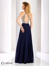 Clarisse Embellished Navy A-line Prom Dress 3087