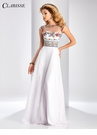 Embroidered A-line Prom Dress 3050