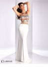 Clarisse Embroidered High Neck Prom Dress 3055