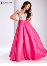 Clarisse Floral Color Block Ball Gown 3197
