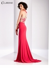 Clarisse Floral Color Block Prom Dress 3035