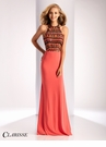 Clarisse Geometric Sequin Prom Dress 3181