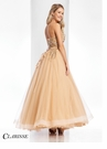 Clarisse Gold Floral Ball Gown 3010