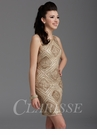 Clarisse Gold Homecoming and Party Dress 2928