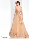 Clarisse Gold Lace Ball Gown 3018