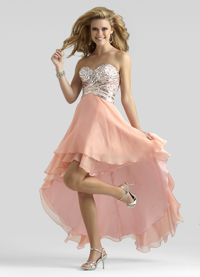 Clarisse 2014 Peach Sorbet Iridescent Strapless Sweetheart High ...