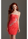 Shimmer Coral Cocktail Dress 2201