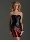 Clarisse Ombre Black and Red  2487