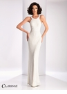 Clarisse Ivory Beaded Prom Dress 3173