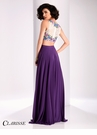Clarisse Lace Floral Two Piece Prom Dress 3037