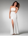 One Shoulder Ivory Gown 1501