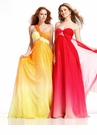 One Shoulder Long Ombre Prom Dress 1351