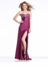 Long Strapless Prom Dress with Slit 1359